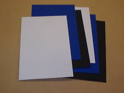 6 Pack 1 mm A4 KYDEX T SHEET 297 X 210 2 Black,2 Blue,2 White,Haircell finish