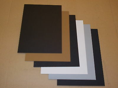 6 Pack A4 (297 x 210)  KYDEX SHEET   1.5mm & 2mm Assorted Colour + Finish