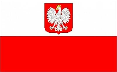 POLAND WITH EAGLE CREST 9 METRE BUNTING 30 FLAGS flag WARSAW GDANSK