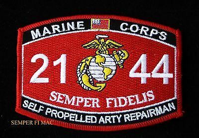 Mos 2144 Self Propelled Artillery Repairman Patch Us Marines Pin Up Uss Fmf Iraq