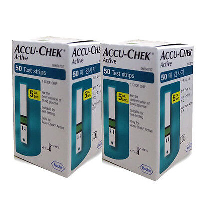 ACCU CHEK Active 100 Test Strips (100Sheets) Tracking number, Expiration:01/2018