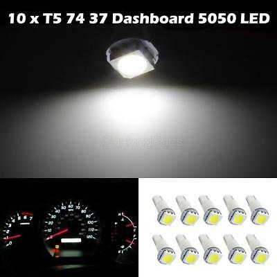 10x T5 17 37 73 74 Wedge Instrument Dashboard LED Light Bulb Lamp White For Ford