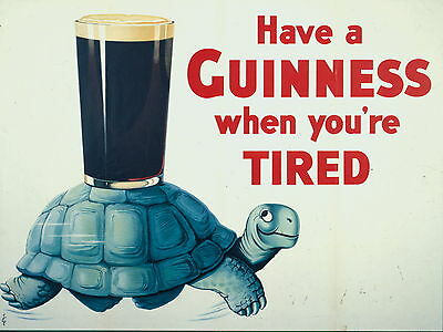 GUINNESS pub bar Sign Retro metal Aluminium Sign WHEN YOUR TIRED beer signs cave