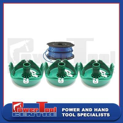 Black /& Decker Spare Trimmer Strimmer Green Cover Cap X 2 Spool And Line X 3