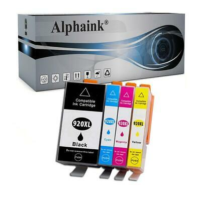 4 Cartucce Con Chip Per Hp Officejet 6000 6500 A Aio Wifi 7000 7500 A Ai-920Xl