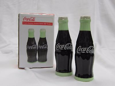 "Coca-Cola 4"" Ceramic Salt & Pepper Shakers - NIB"