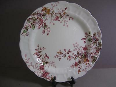 B4 Booths Washington Pattern Pink Floral Charger Serving Plate