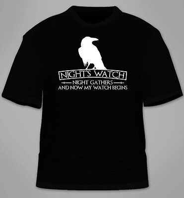 Night's Watch T-Shirt. Game of Thrones House Funny Stark Funny TShirt Gift Tees