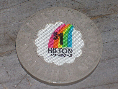 $1 3RD EDT GAMING CHIP FROM THE LAS VEGAS HILTON CASINO, LAS VEGAS NV