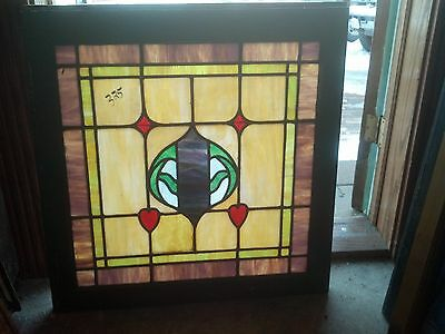Stained glass window with hearts feature  (SG 1611)