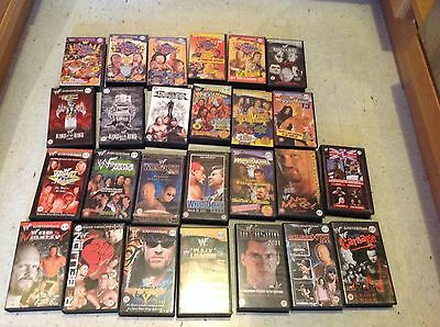 WRESTLING VIDEOS auf VHS WWF wwe KING OF THE RING Wrestlemania Colisuem lot wcw