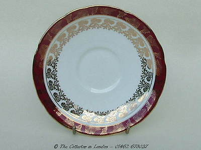 Vintage 1970's Royal Stafford 8686 Red Scrolls Pattern Tea Saucers Only in VGC