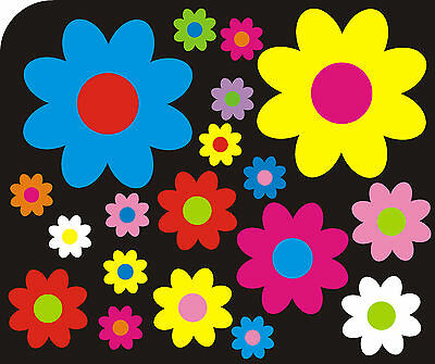 38 Colours 25 DAISY FLOWER STICKERS DECALS for CarWallHome S5