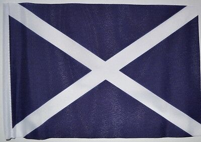 "ST ANDREW SCOTLAND BUDGET FLAG small 9""x6"" GREAT FOR CRAFTS Scottish"