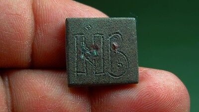 Ancient Bronze Weight With Inscription Byzantine 400-600 Ad • CAD $220.21