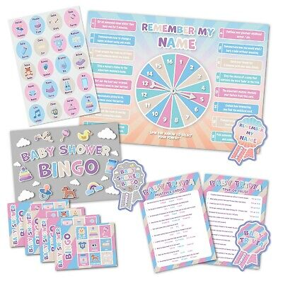 Baby Shower Party Game  -  3 GAMES  -  Unisex  -  up to 20 players