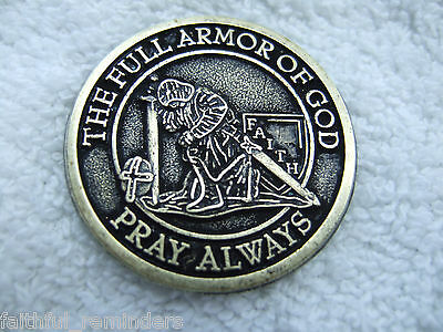 Armor of God Coin 1 1/2 inch  no web site $.87 each LOT OF 25