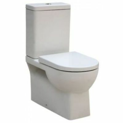 Venus Full Ceramic Wall-Faced Toilet Suite  S or P Trap - Square Modern Look