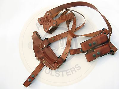 Leather Horizontal Shoulder Miami Vice Holster for Glock   (P1)