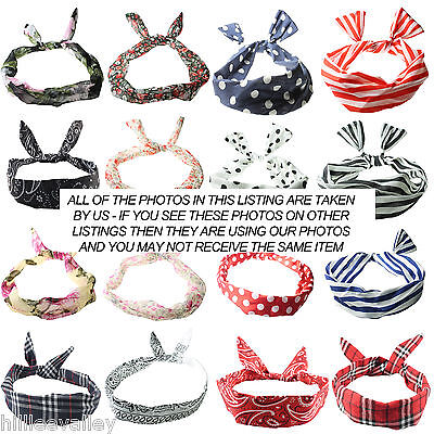 Wire Headband Retro Wired Head Scarf Rockabilly Wire Hair Band Head Wrap Vintage
