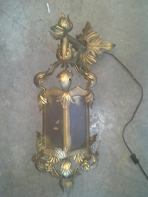 Decorative leaf sconce all glass  (LT 305)