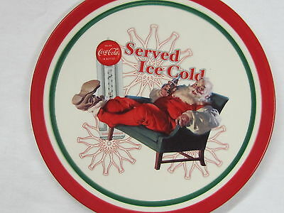 "Coca-Cola Christmas Plate ""Served Ice Cold"" - FREE SHIPPING"