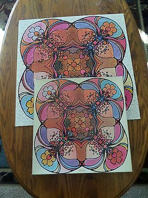 1967 CAROUSEL MINDFLOWERS Puzzle Peter Max Psychedelic Groovy Hippy Springbok