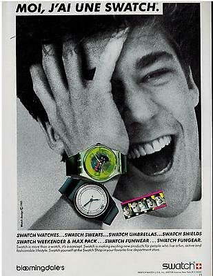 1986  SWATCH WATCHES : Concept     PRINT ADVERT