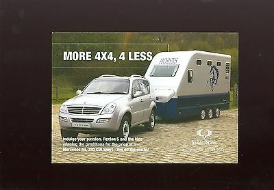 Ssangyong Rexton S Sales Leaflet