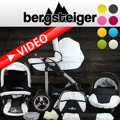 Bergsteiger Capri pram combi 3in1 pushchair car seat travelsystem stroller buggy