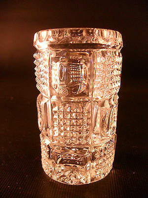 EARLY AMERICAN PATTERN GLASS TOOTHPICK HOLDER, PATTERN?,