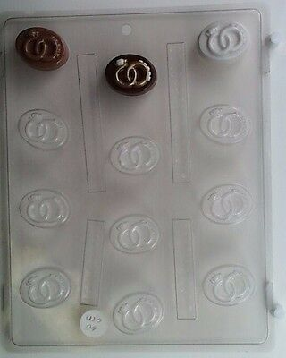 STARS BITE SIZE CLEAR PLASTIC CHOCOLATE CANDY MOLD AO078