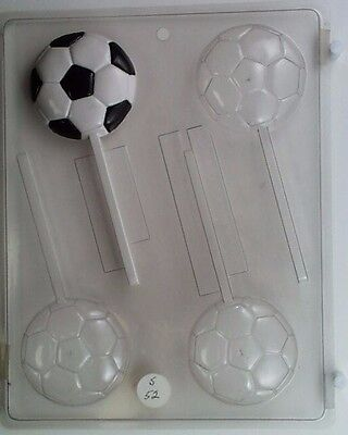 Soccer Ball Lollipop Clear Plastic Chocolate Candy Mold S052