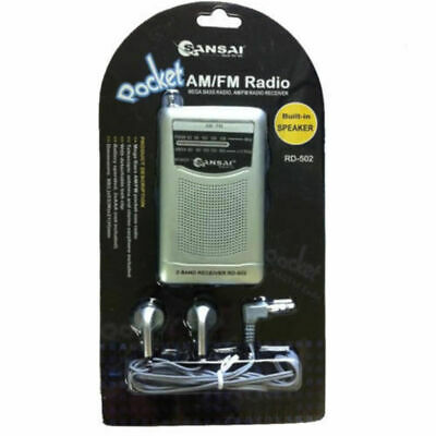 Portable Pocket AM FM Radio Speaker/Telescopic/Antenna/earphone plug jack 3.5mm