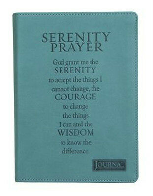 Serenity Prayer Journal, Ribbon Marker, 240 Scripture lined pages, Flex Cover