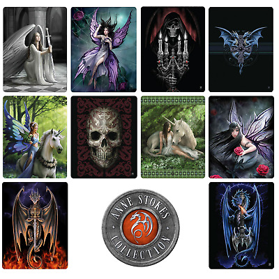 Anne Stokes Gothic Fairy Dragon Polar Fleece Throw Rug Blanket - 8 Design Choice