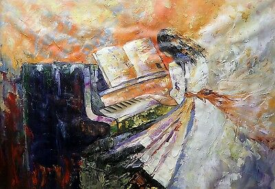 Abstract art Piano Pianist 30x20 painting NOT print or poster Framing Available.