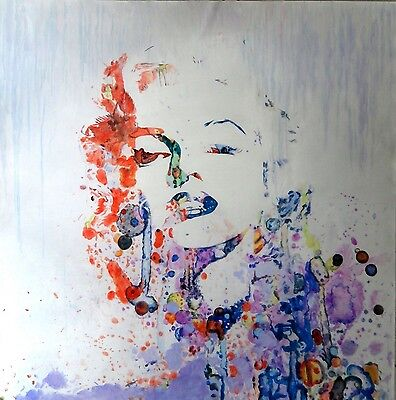 Marilyn Monroe Abstract 28x28 painting NOT print or poster Framing Available.