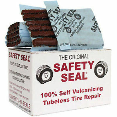 """Safety Seal Tire Plugs, 6 PIECES - (one packet) tire repair brown plugs kit, 4"""""""