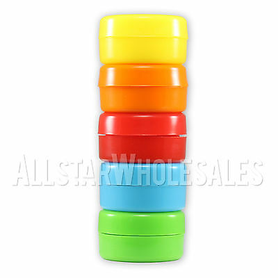 NoGoo COLORED Nonstick Silicone Container Jars  No Goo Jars, 1 Pack (5 Total)