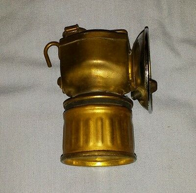 VINTAGE ANTIQUE JUSTRITE MINERS COAL LAMP/ MADE IN UNITED STATES