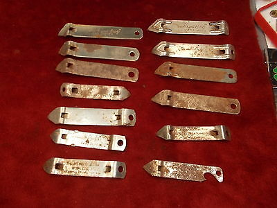 LOT OF 13 OLD VTG BOTTLE CAP OPENERS, INCL EKCO, QUICK & EASY, ADVERTISING++++++