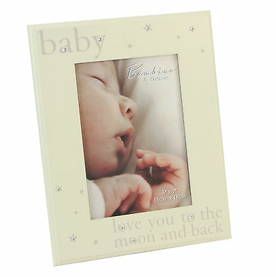 """Bambino By Juliana Baby Gift Wood Photo Picture Frame 'LOVE YOU' 5""""x7"""" CG337"""