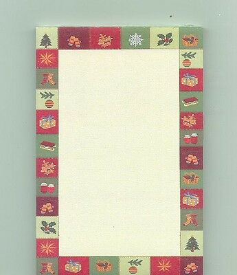 Longaberger Christmas Sampler Note Pad Holly Snow Flakes Basket Mittens Star