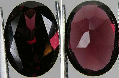 6.60ct or 1.30g Tanzania 100% Natural Rhodolite Garnet Clean Oval Cut Gemstone