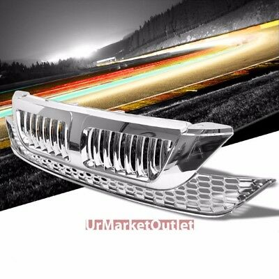 Chrome Vertical Style Replacement Front Grille For Honda 07-09 CR-V 2.4L DOHC