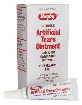 Artificial Tears by Rugby Eye Ointment 15 ml Humans Dogs Cats Horses