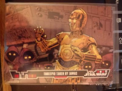 Topps Star Wars Illustrated A New Hope #35 Threepio Taken By Jawas MINT
