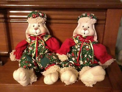 """Porcelain Rabbits""""HipHop""""~House of Lloyd~COLLECTOR-Decor-Gifts~Set of 2~$12OFF"""