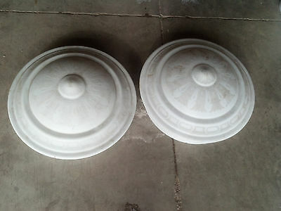 super nice ornate decorated glass shades matching 2   (LT 325)